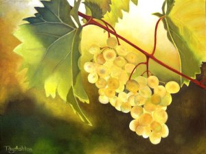 Sunlight Grapes. A painting by Tay Ashton